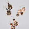 Copper earrings made from washers, with sterling silver ear wires.