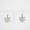 Daisy earrings with floral texture
