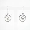 Twirlie earrings, Sterling silver