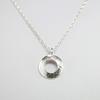 Mini doughnut pendant on belcher chain, Sterling silver