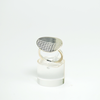 Ring with textile texture, Sterling silver