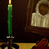 I lit a Thin Green Candle.  Oil on Canvas