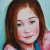 Portrait in oils Lily A3