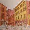 Street in Bologna. Brush pens.