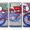 Life size Ducati. Acrylics. 188x122cm.