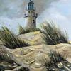 Dunes-Oil on canvas   A3   Palette Knife   Framed   Original Painting by Gavrailov Art