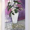 """Blossom. Framed watercolour. Outer measurement 26x18"""".  £90"""