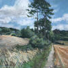 one of a series of 36 paintings of the south downs as a travelling exhibition