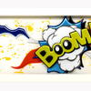 Boom! Fused and Painted Glass Wall Art
