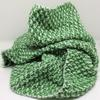 """Heads Up for Spring Scarf - green & white 100% acrylic yarn, £30 (9""""x74"""")"""