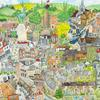 Detail from 'Colourful Hertford' birds eye view. A2 print on Etsy at emmamarsdenart £52 (£10 local charity)