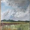 """Rain on the way to Nelson Head ""Acrylic painting on hessian"