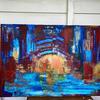 Sunset acrylic on canvas metallic hints