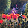 Poppy Field  -  soft pastel painting