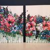 Falling Blooms Duo (84x60cm) Colourful abstract floral, acrylic on canvas