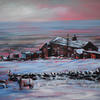 Farmhouse on Ovenden Moor (Leisure Painter demo), acrylic on canvas, 51cm x 41cm, £350.00