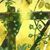 Fence, Cross Lane - hand printed reduction linocut