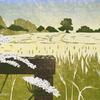 Field, Cross Lane - hand printed reduction linocut