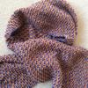 Handknitted silk and alpaca scarf - Firefly