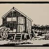 Fishermans Shed - Walberwick, Linocut Print (20x15cm)