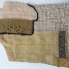 Field study - pieced and stitched textile art piece taken from medieval tithe faming layout