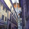 Via dei Servi, Firenze, acrylic on canvas, 51cm x 76cm, £495.00