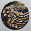'Flying Colours' - blockprint and paint on circular plywood