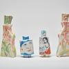 Porcelain People vessels, Botanicals, The Sisters and Faces NL. 15-25cm tall x 8cm wide