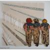 Land Girls - Hand-stitched textile portrait