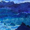 'Turbulence at sea', mixed media
