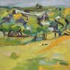 'From Primrose Hill 2' oil on linen, 70 x 70 cm.