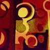 Autumn Seeds.  Abstract Lino print. Framed 47cm x 30cm. £85.00