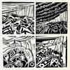 Disturbed Coast.  V/E Lino Print. Framed 35cm x 35cm. £55.00