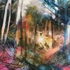 'Woodland Walk' Acrylic inks on canvas