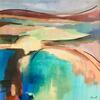 Devon Bay.  Acrylic on canvas 50cm x 50cm.  £125.00
