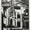 From St Bride's Fleet Street. Lino cut