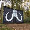 Gate mural. Acrylics. Huge gates...