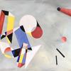 'Objets Géométriques'  80 x 60cm  Oil on Canvas