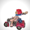 """Slow down !"" Girl driving a lambretta, looks like her toys are about to fall off!"