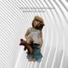 Garden Feature Frostproof Ceramic Handmade Child holding her teddy Size :40.5 x 27 x 20 cm