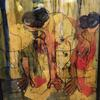 Acrylic sheet/life drawing/reverse painting