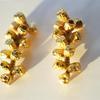 Gold eucalyptus earrings 12 pods by Teague