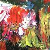 """Wild Flowers ( Acrylic Mixed Media On Board Approx size 7"""" x 12"""")"""