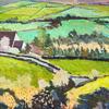 Green Fields - Acrylic on plyboard 67x67cm framed