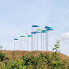 Green Wind by Diane Maclean  Sited on a ww2 airfield now a wildlife conservation area, the wings change colour as they turn in the wind