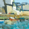 Harbourside - Acrylic on ply board ( NOW SOLD )
