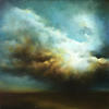 Rain Clouds. Rays of Light. Oil on Canvas