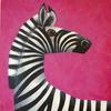 """""""Simon"""" original painting in acrylics, on canvas board and framed"""