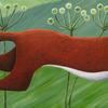 """Dashing Mr Fox"" original painting in acrylics on 100cm x 30cm box canvas"