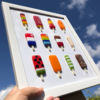 Fused Glass Ice Lollies - Wall Art